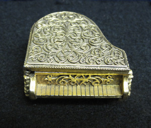Replica of a Piano Pewter with gold plating antique finish